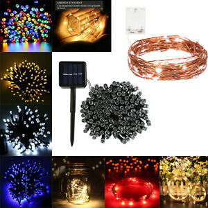 Image Is Loading 10 Meter Cooper Wire String Lights With Remote