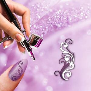 Airbrush-Adhesive-Stencils-f360-Nail-Art-Combo-Floral-Ornament-Squiggles-Ranke