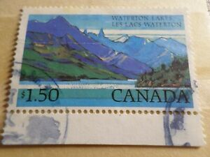 CANADA-timbre-YVERT-798-LAC-WATERTON-oblitere-VF-used-stamp