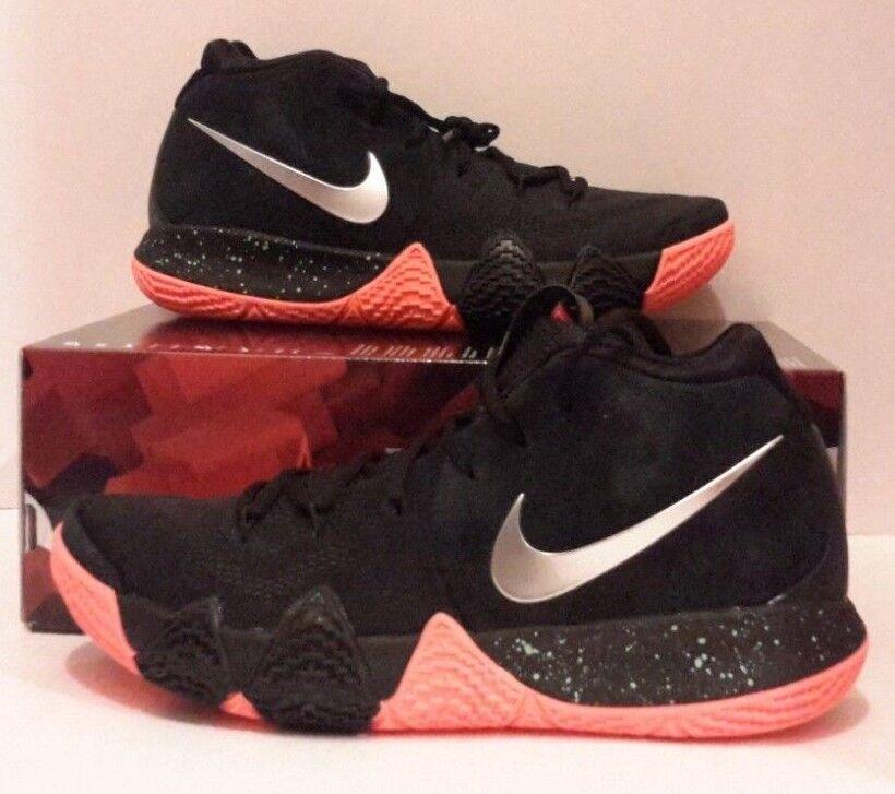 6dfb6fc34d88 New Nike Nike Nike Kyrie 4 Size 11 Black Silver orange Mens Basketball  shoes 943806 010
