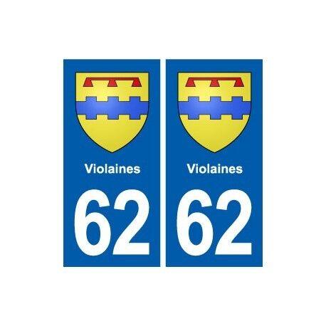62 Violaines blason autocollant plaque stickers ville droits