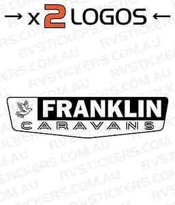 X FRANKLIN Mm Caravan Decal Sticker Vintage Graphics EBay - Graphics for caravanscaravan stickers ebay