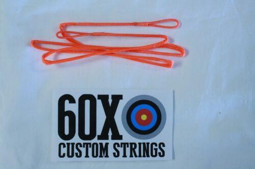 "65/"" 14 Strand Flo Orange Dacron B50 Longbow Bowstrings by 60X Custom Strings Bow"