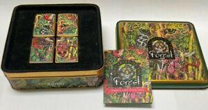 Vintage Zippo 1995 Mysteries of The Forest Lighter Set | Barrett Smythe | RARE |
