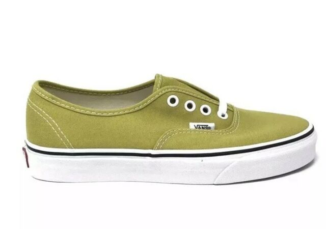 211921c983 New Vans Mens 9 Womens 10.5 Authentic Cress Green True White Shoes Sneakers