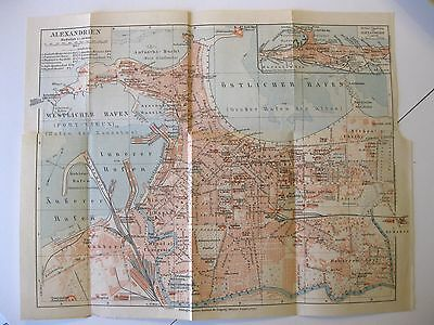 Cartina Turistica Egitto.Print Ancient Map Antique Old Map Egypt Alexandria Egipt Alexandrien 1930 Ebay