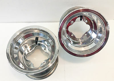"DWT POLISHED A5 10/"" FRONT 10/"" 10X10 REAR WHEELS RIMS HONDA TRX 450R 250R 400EX"