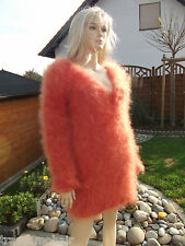 TRAUMMOHAIR P2o Fluffy Longhair Mohair Pullover Sweater Jumper V-Neck new S-M