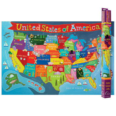 United States Map For Kids | eBay