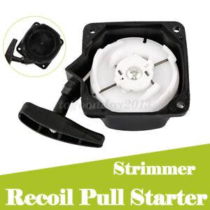 Recoil Pullstart Pull Starter Start for Brush Cutter Strimmer Lawnmower Black
