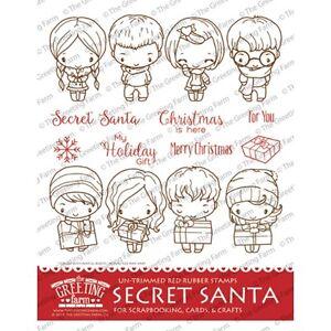 Secret santa kit the greeting farm rubber stamp stamping anyaian image is loading secret santa kit the greeting farm rubber stamp m4hsunfo