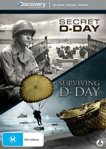 1 of 1 - Surviving D-Day / Secret D-Day (DVD, 2012, 2-Disc Set) New  Region 4