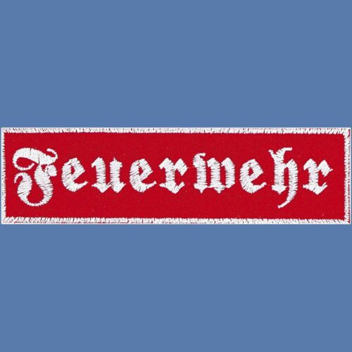 schiena-ricamate grande applicazione 30x9 cm Stick emblema pompieri ☆ ☆ 08514