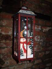 Danés Navidad Muñeco de nieve de Lujo Colgante de metal y té-Lite Linterna de vidrio