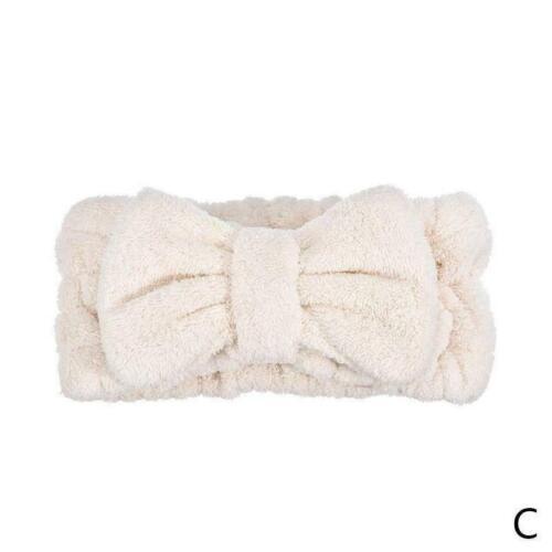 Mikrofaser Frauen Haarband Cute Coral Fleece Bow Haarschmuck Neu E4K3