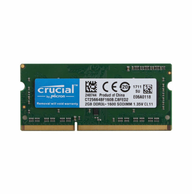 Crucial 2PCS 8GB 2Rx8 PC3-12800S SODIMM RAM Laptop Memory Intel DDR3L 1600Mhz #r