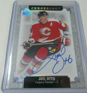 18 19 Upper Deck Ud Chronology Joel Otto Auto Signature Calgary Flames On Card Ebay