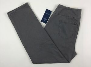 B37-Women-039-s-Charter-Club-Slate-Gray-Slim-Leg-Jeans-Size-14W-NEW