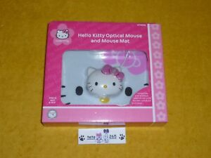 NUOVO-HELLO-KITTY-OPTICAL-MOUSE-AND-MOUSE-MAT-NEW-SEALED-KT4098-WINDOWS-MAC