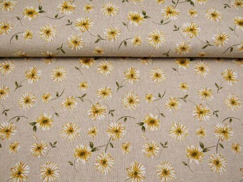 0,5 m Dekostoffe Blume Blüte Gänseblümchen Stoff B