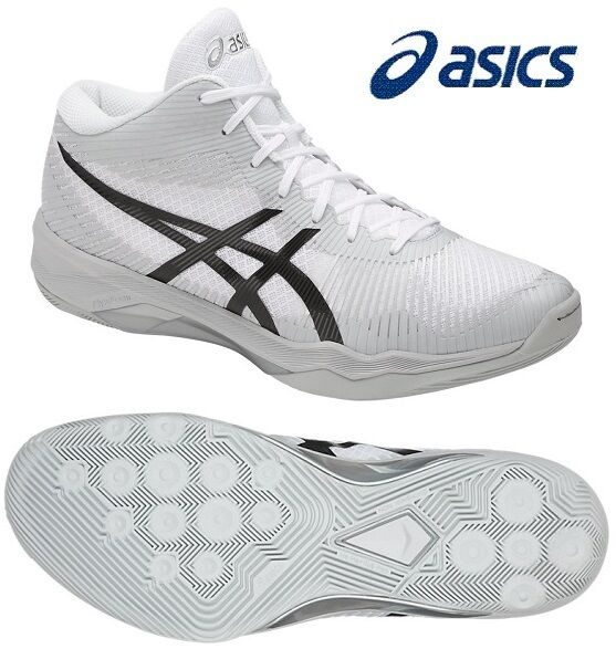 ASICS Japan Men's Volley Elite FF MT MID Volleyball Shoes TVR714 White Gray