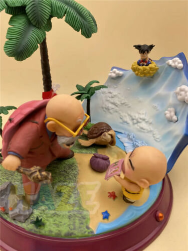 Anime dragonball baby goku master roshi kame sennin kuririn figure toy 22cm