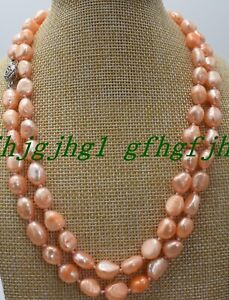 Pink-Baroque-Pearl-Necklace-Genuine-Pearl-Sweater-Chain-Women-Necklace-36-039-039