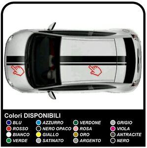 2-ADESIVI-STRISCE-COFANO-E-TETTO-PER-NUOVA-FIAT-500-TUNING-STICKERS-DECAL