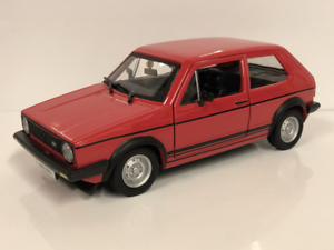 VW-Golf-Gti-Mk1-Rouge-1-24-Echelle-Neuf-Emballe-Burago-B18-21089R
