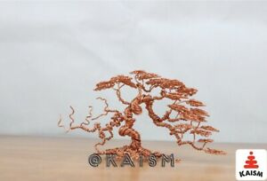 Miniature Copper Wire Bonsai Tree Sculpture Handcrafted Ebay