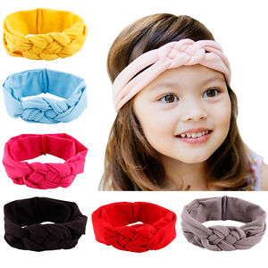 Baby Girl/'s Cotton Turban Twist Knot Head Wrap Headband Twisted Knot HairBand