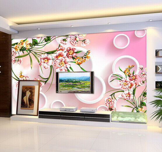 3D Circle Petals 538 Wallpaper Murals Wall Print Wallpaper Mural AJ WALL AU Kyra