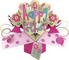 HAPPY BIRTHDAY FEMALE 3D POP UP BIRTHDAY CARD NEW GIFT