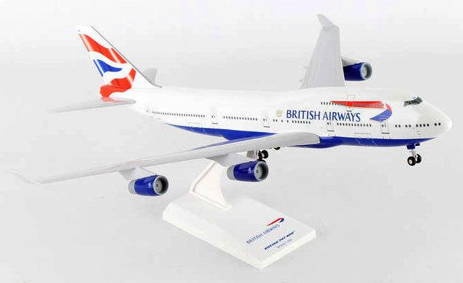 British Airways Boeing 747-400 1 200 B747 B744 SkyMarks SKR304  Flugzeug Modell    Haltbar