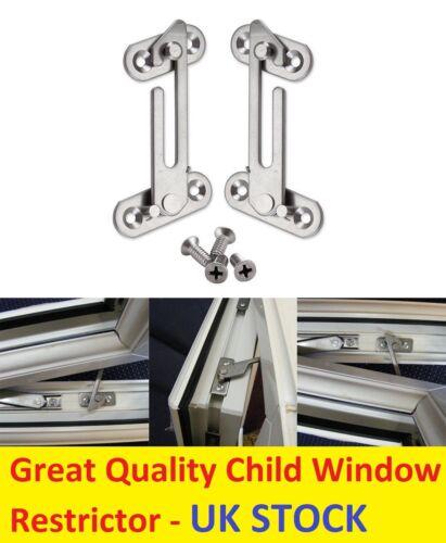 2 Security Window Restrictor Child Baby Safety Lock Catch UPVC Door Ventilator R