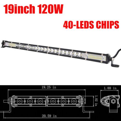 "Ultra Slim 20inch 120W LED Work Light Bar Spot Flood Car Truck 4X4 SUV 19//22/"""