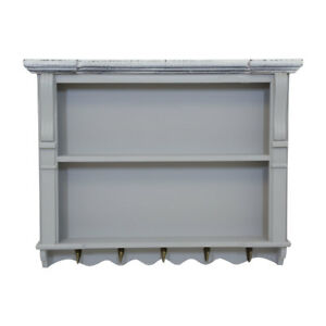 charles bentley grey shabby chic kitchen wall shelving display unit
