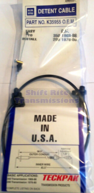 TH350 ADJUSTABLE TRANSMISSION DETENT TV CABLE KICK DOWN 69-86 GM CHEVY TH350C 40