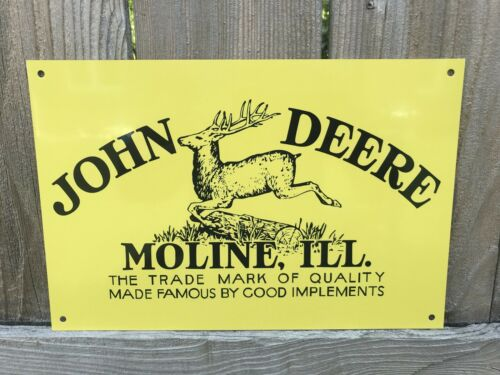 John Deere  Farm Implements Vintage Style Metal Sign 12 Inch