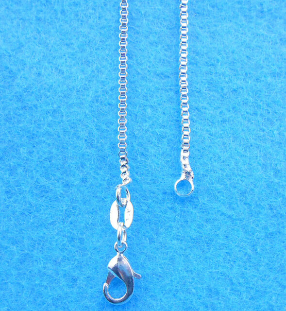 Wholesale 1PCS Fashion jewelry 925 Sterling Silver Plated Box Necklaces Chain