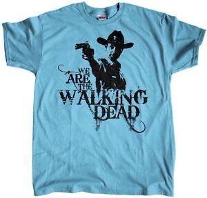 Men-039-s-Rick-Grimes-We-Are-The-Walking-Dead-Regular-Fit-T-Shirt