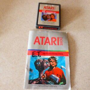 ET-The-Extra-Terrestrial-Atari-2600-Game-Cartridge-1982-with-Manual