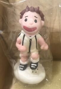 Soccer Player Cake Topper- White Striped Party Cupcake Toppers Decorations Cakes