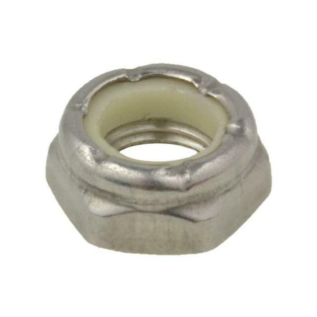 """THIN Hex NYLOC Nut 3/8"""" UNF Imperial Fine Lock Jam Stainless A2-70 G304"""