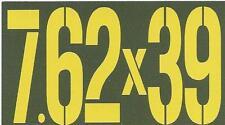 "Vinyl Ammo Can Magnet label ""7.62x39"""