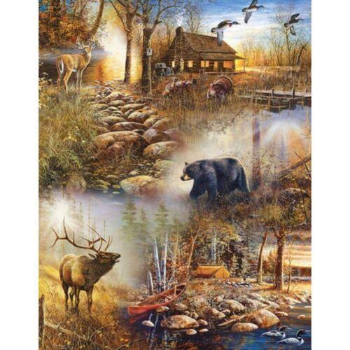 DIY 5D Deer Bear Diamond Painting Full Drill Home Decor Cross Stitch Kits Gift