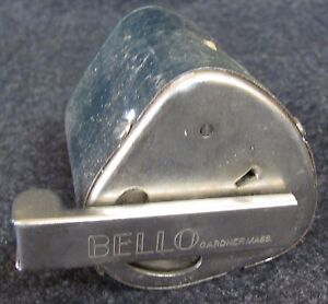 Vintage-BELLO-Hollow-Grinder-Razor-Blade-Sharpener-with-Directions-Strop-AB491
