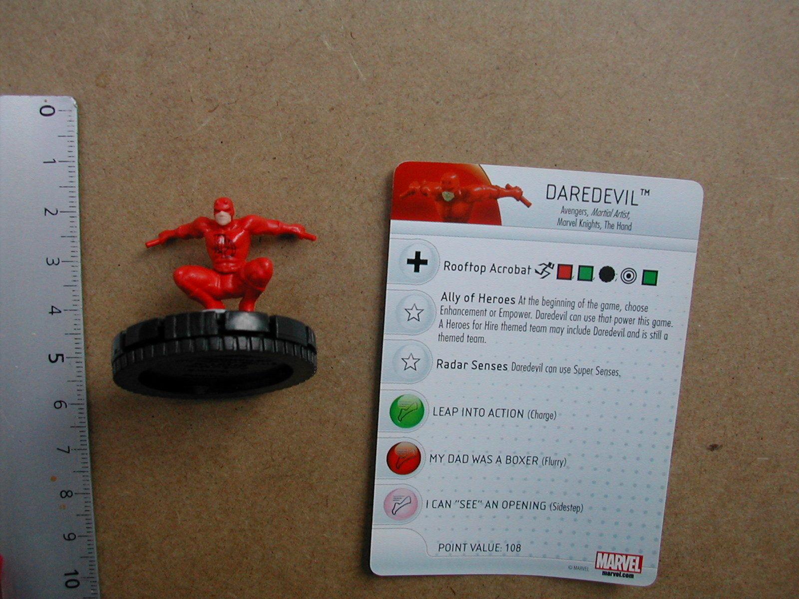 Nr 015 DArougeEVIL     CARD  MARVEL  HEROCLIX