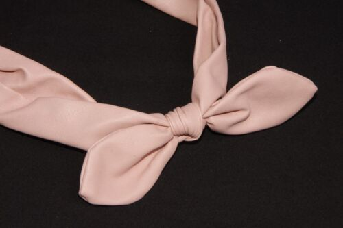 s80 Pretty Baby en cuir synthétique rose PIN UP Style Tie Front Filles Bandeau