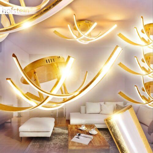 LED Design Flur Dielen Lampen dimmbar Decken Leuchte Wohn Schlaf Raum goldfarben